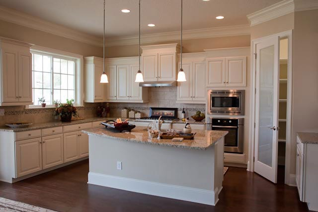 Wide angle of a kitchen