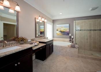 Wide angle of bathroom