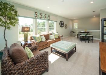 Wide angle of a living area