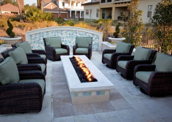 Wide angle of an outdoor seating area