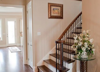 Stair case and front entrance